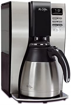 Classic Coffee Concepts BVMCPSTX91 Optimal Brew 10-Cup Thermal Programmable Coffeemaker44 Black Brushed Silver