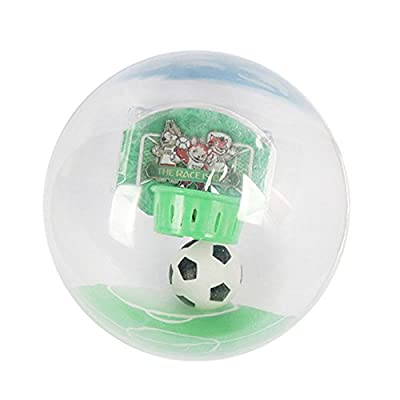 TOOGOO Joueur de football electronique tenu dans la main avec la lumiere de LED et le jouet de decompression de tirRouler la boule dans le score de cerceau