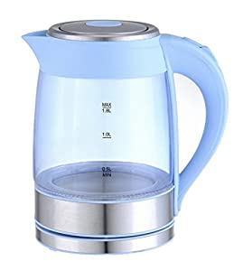 GForce Electric Glass Kettle With LED Light – 1 : Boils one liter of water in 6 minutes