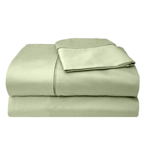 Veratex Legacy Collection 300 Thread Count 100% Egyptian Cotton Sateen Bed Sheet Set With Elegant Stitch Hem Design, California King Size, Sage by Veratex, Inc., us kitchen, VERLQ