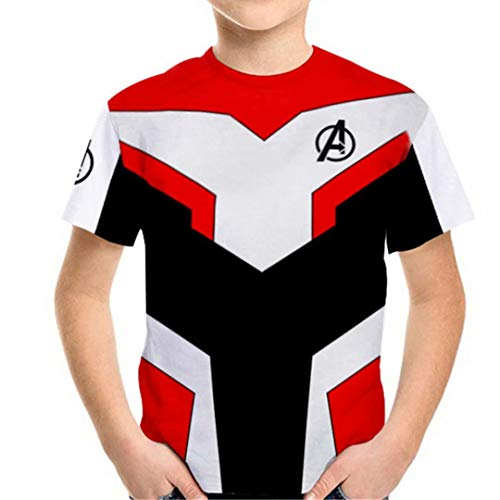 Kids Girls Superhero T-Shirts Endgame Quantum Realm Costume Tops Tee Shirt 130(5-6Y)