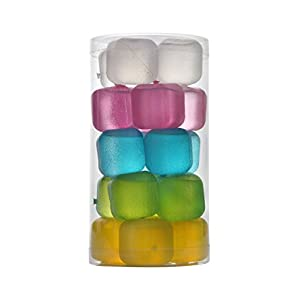 HOFA Reusable Frosted Plastic Ice Cubes(Plastic Pack of 20) 18