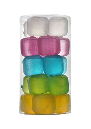 (HOFA Reusable Frosted Plastic Ice Cubes(Plastic Pack of 20))