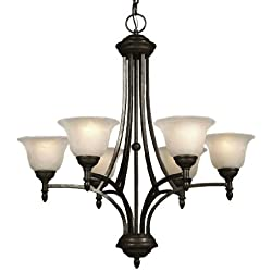 Galaxy Lighting 815626MBZ 6 Light Reagan Chandelier, Medieval
