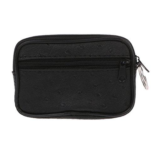 Vlccoo Soft Men Women Card Coin Key Holder Zip Change Pouch Wallet Pouch Bag Purse Gift - Black