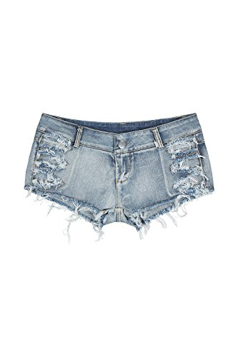 Shorts Femmes Jeans Dchirs Blue Vemubapis Sexy Taille Vider Faible RYSUY