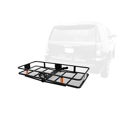 Retrospec Cascade Folding Basket Style Cargo Rack with 2 inch Hitch ()