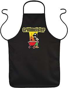 Diseño/Barbacoa/Cocina/delantal divertidos/FUN de delantal/rúbrica divertido Sprüche: Grillmeister–Geniales Regalo