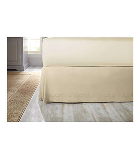 Better Homes and Garden Chain Stitch Loop Bedskirt - king from Better Homes and Garden