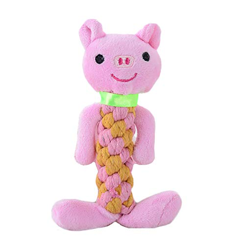 Knot Bear Penguin, Interactive Squeaky Plush Chew Toy for Dogs DT053