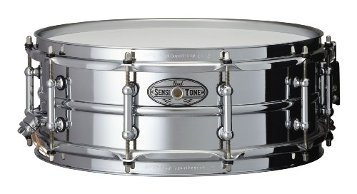 Pearl STA1450S 14 x 5 Inches Sensitone Snare Drum - Beaded Steel ()