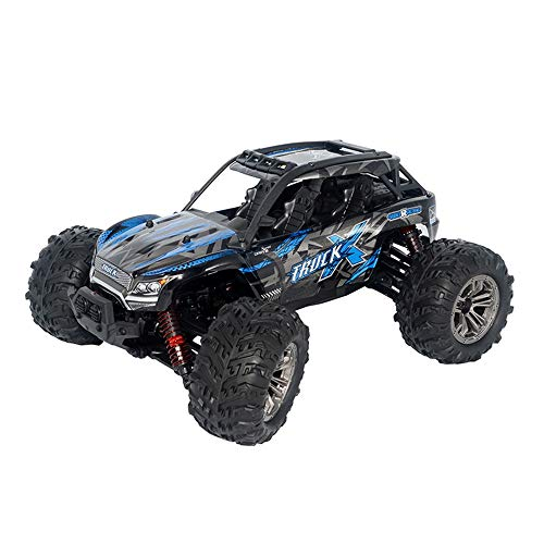 WEIJIJ 36KMH RC Car 4WD Monster Truck 1:16 Scale 2.4Ghz Off-Road Remote Control Car RTR Toys Boys Kids Gift Christmas Halloween New Year (Blue)