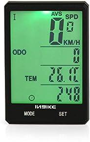 Wireless Bicycle Speedometer 2.8in Waterproof LCD Display Computer Odometer with Backlight Multiple-Function W