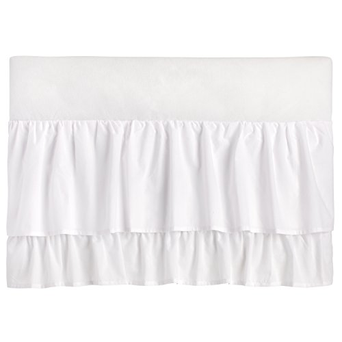(Little Love - Two Tiered Crib Skirt - White)