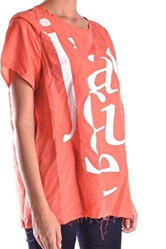 FIVE PREVIEW Femme MCBI003002O Orange/Blanc Soie Tank Top