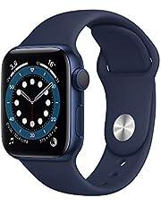 AppleWatch Series6 (GPS, 40-mm) kast van blauw aluminium - Donkermarineblauw sportbandje