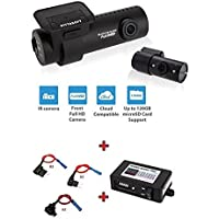 BlackVue New DR650S-2CH-IR 128GB, Car Black Box/Car DVR Recorder with Power Magic Pro + Fuse Taps, Built-in Wi-Fi, IR, Cloud, Full HD, G Sensor, GPS, 128GB SD Card Included, Up To 128GB Support