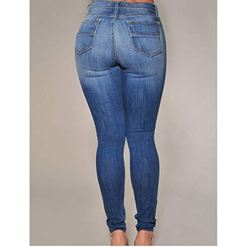 Trou Taille Pantalon Clair 2 Pieds Pantalon Denim Petits Dames Fit Bleu Mode Sexy D't Rise 3XL Jeans Dchir S Skinny Butt Cass Femmes Slim Faible Bleu IzxS4FRzqw