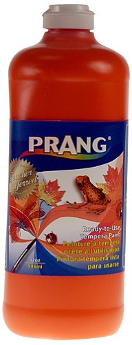 orange 32Ounce Bottle ReadytoUse Tempera Paint, Brown, 1 gal