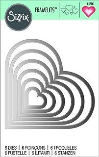 Metal Grey 11.5 x 9.6 x 0.1 cm Vaessen Creative Stanzformen Herzen f/ür die Stanzmaschine