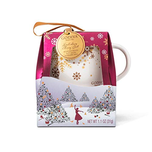 (Godiva Hot Chocolate with Mug Gift Set | Perfect for Coffee, Tea, and Hot Cocoa with Milk Cocoa included (1.1 oz))