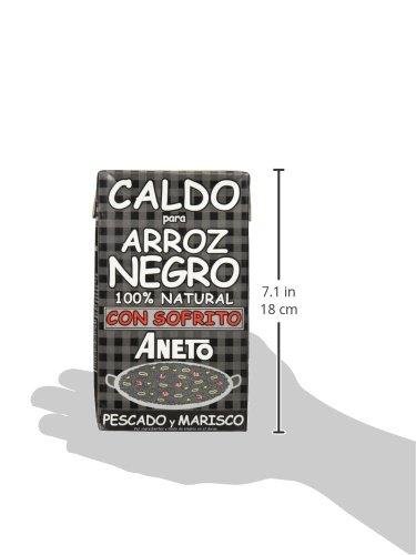 Aneto Caldo Para Arroz Negro Con Sofrito De Pescado Y Marisco - 1000 ml: Amazon.es: Amazon Pantry