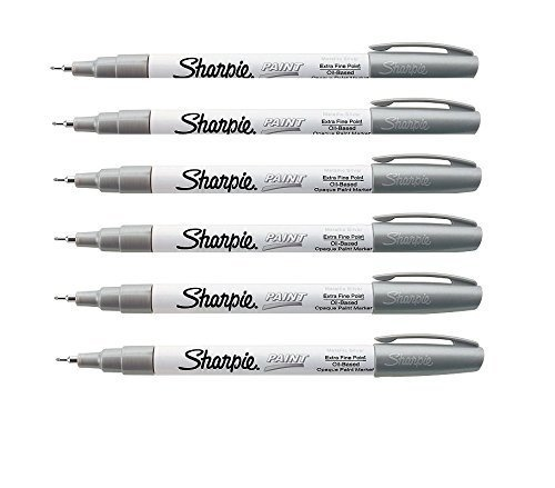 UPC 635665324354, Sharpie Oil-Based Paint Marker, Extra Fine Point, Single, Silver (SAN35533) - Pack of 6 Paint Markers