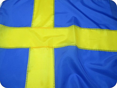 SWEDISH FLAG 3x5 ft - Beautiful, Durable, All Weather Nylon,