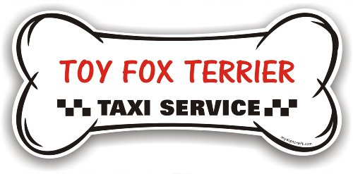 Fox Terrier Bone - Toy Fox Terrier Taxi Service - magnetic bone sign