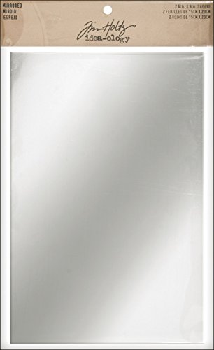 Tim Holtz Idea-ology TH93029 Mirrored Sheets, 2 Sheets,  6 x 9 Inches, Polystyrene