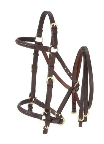 Australian Outrider Halter Bridle with Reins Black