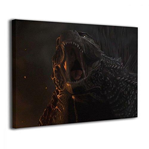 Little Monster Godzilla Roar Inner Framed Pictures On Canvas Home Decor Funny Art for Kids Bedroom Living Room