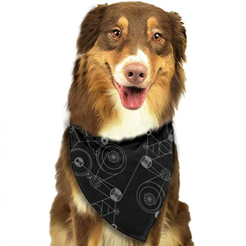 (Pet Scarf Dog Bandana Bibs Triangle Head Scarfs Gear Steins Black Accessories for Cats Baby Puppy)