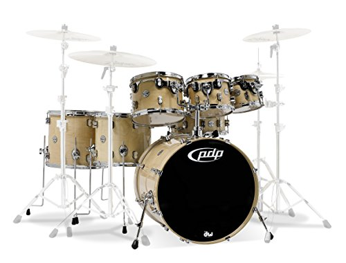 PDP By DW 7-Piece Concept Maple Shell Pack with Chrome Hardware Natural - Maple Drum Set