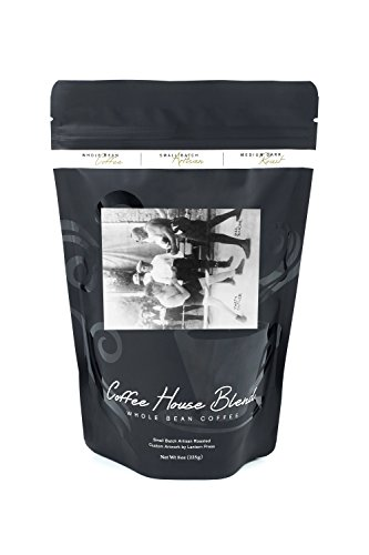 Boxers Marty Cutler and Jack Johnson - Vintage Photograph (8oz Whole Bean Small Batch Artisan Coffee - Bold & Strong Medium Dark Roast w/ Artwork) (Cutler Photograph)