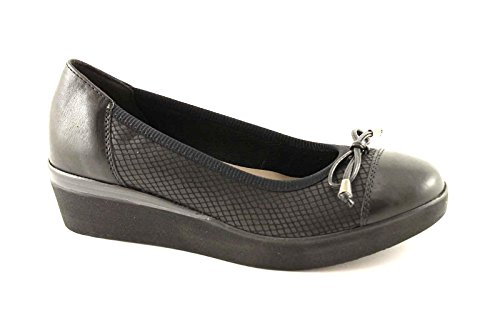 Aura Grunland Black Woman zeppetta Dancer Shoes SC1997 Nero dPPrWqS