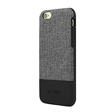 JACK SPADE iPhone 6s Plus Color Block Case [Shock Absorbing][Textured] Cover fits iPhone 6 Plus, iPhone 6s Plus -Tech Oxford Gray / Black