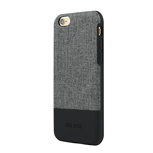 JACK SPADE iPhone 6s Plus Color Block Case [Shock Absorbing][Textured] Cover fits iPhone 6 Plus, iPhone 6s Plus -Tech Oxford Gray/Black