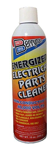 Berryman 1540 Energized Electric Parts cleaner, VOC Compliant in all 50 states, 19 oz.  Can by Berryman Products
