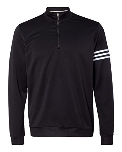 - adidas Mens Climalite 3-Stripes Pullover (A190) -Black/Whit -4XL