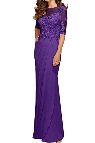 Damen Promkleider Abendkleider Abschlussballkleider mia Partykleider Lila Langarm La Braut Rot Festlichkleider Spitze qYZnYt0v