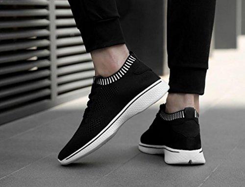 De Noir Comfort Sneakers Tomber Men's Mesh Shoes Black Amoureux Sports Chaussures Fashion Durable 43 Shoes Hemei Course Spring Intensifier 4RBFqw6