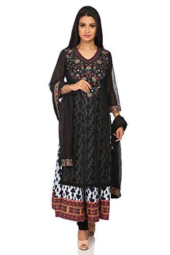 - BIBA Women's Black Polyster Salwar Kameez Dupatta Size 36