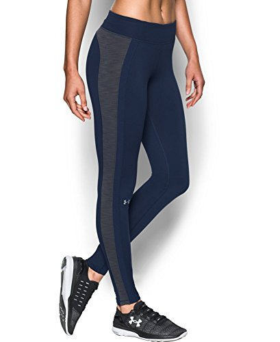 Under Armour Women's ColdGear Legging, Midnight Navy/Carbon Heather, Small