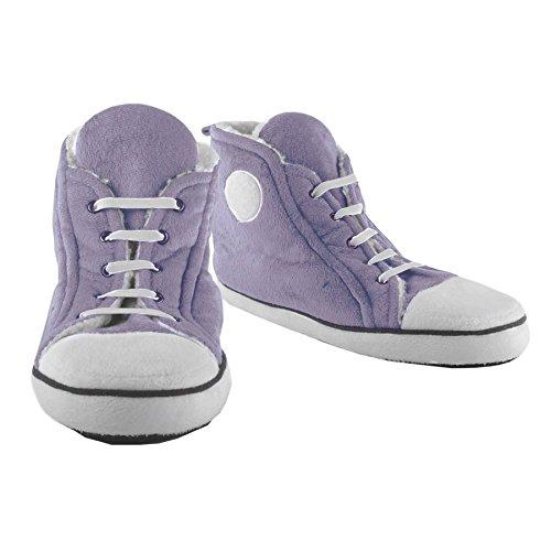 Fizz Creations Pantuflas con diseño de zapatillas, para mujer [color lila, talla 40]