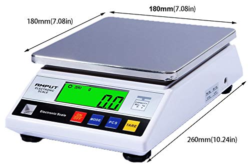 RESHY High Precision 10kg x 0.1g Digital Accurate Electronic Balance Lab Scale Laboratory Weighing Industrial Scale Kitchen Scale Scientific Scale Counting Scale (10kg, 0.1g)