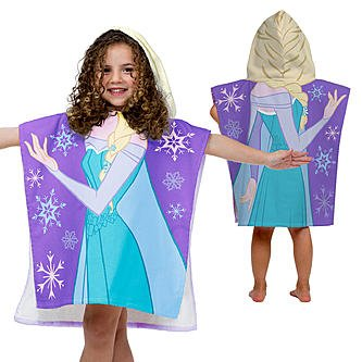 [Disney Frozen Princess Elsa Cotton Hooded Beach/Bath/Pool Poncho] (Baby Anna Costumes Frozen)