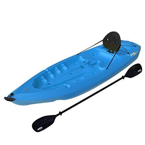 Lifetime-8-Adult-Kayak-w-Paddle-Backrest-Blue