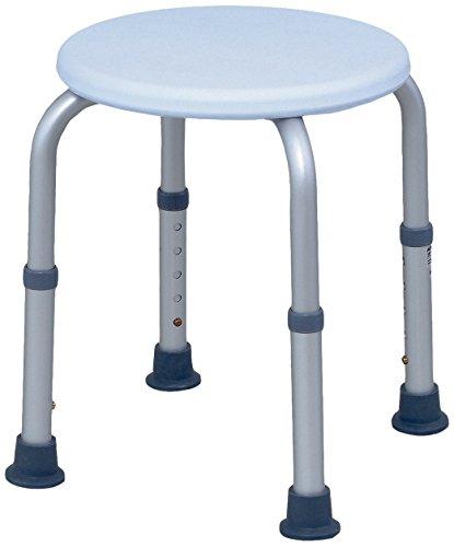 SAILUN Runde Medical Duschhocker Duschstuhl Duschhilfe Duschsitz Badsitz Duschhocker Aluminium & HDPE Höhenverstellbar 36- 51cm Anti-Rutsch ohne Rückenlehne (Modell 2)