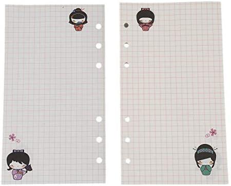 Naliovker A6 Niedliche Bunte Tagebuch Minen Spiralblock Ersetzen Farbe Kern Lose Blatt Briefpapier Geschenk Schule Planer Ringbuch Papier (Gitter)